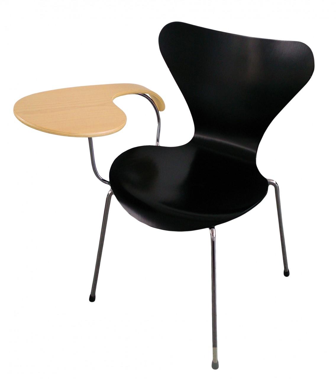Stuhl FRITZ HANSEN 3107 mit Tablar