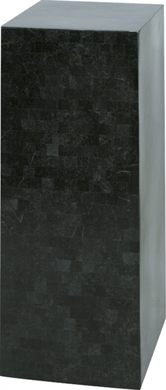 GEO Säule, 35x35/90 cm, black polished