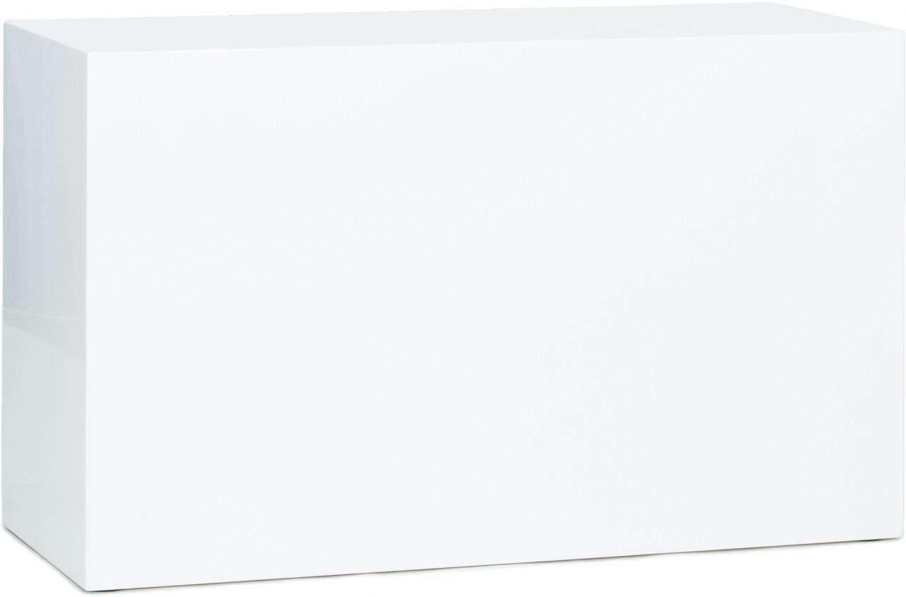 SKY Podest, 100x40/60 cm, weiß hochglanz